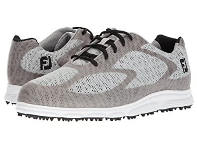 FootJoy Superlite Spikeless Engineered Mesh (Light Grey/Black Trim/White) Men