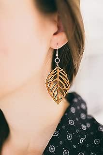Best wood leaf earrings Reviews