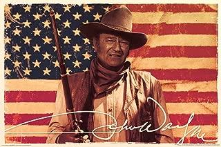 Aquarius John Wayne Flag Poster, 24 by 36-Inch