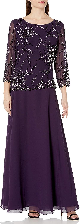 J Kara Women's 3 Dress Limited Long-awaited price sale Sleeve 4 Beaded
