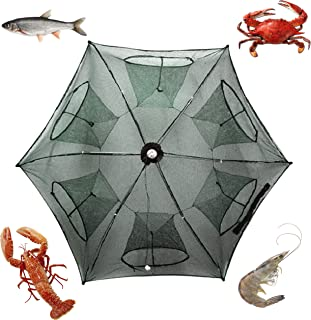 Noa Store New Fishing Bait Foldable Net Trap Cast Dip Cage Crab Fish Minnow Crawdad Shrimp