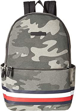 Stephan Corporate Stripe Camo Canvas Backpack