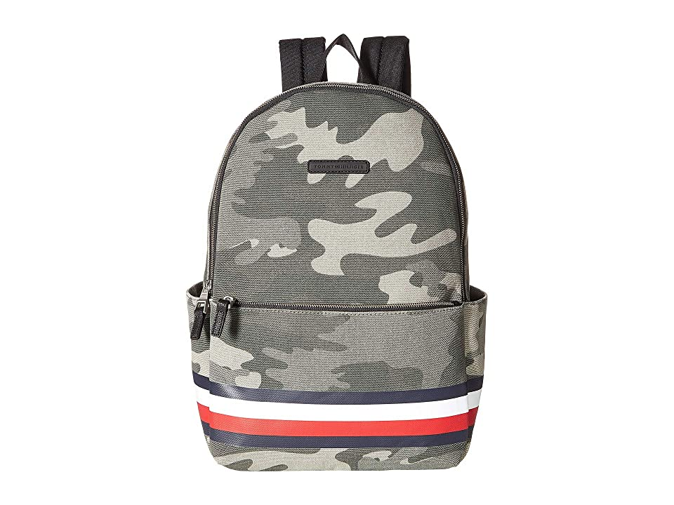 Tommy Hilfiger Stephan Corporate Stripe Camo Canvas Backpack (Green) Backpack Bags