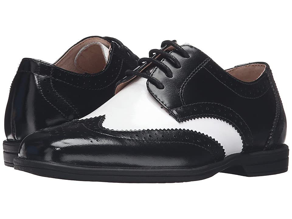 Vintage Style Children's Clothing: Girls, Boys, Baby, Toddler Florsheim Kids Reveal Wingtip Jr. ToddlerLittle KidBig Kid BlackWhite Boys Shoes $59.95 AT vintagedancer.com
