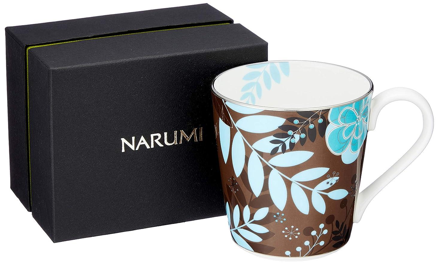 艶ステッチくるくるNARUMI(ナルミ) マグカップ フローラルパラダイス ブラウン 290cc 51068-2773P