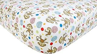 Trend Lab Flannel Crib Sheet, Monkey Print