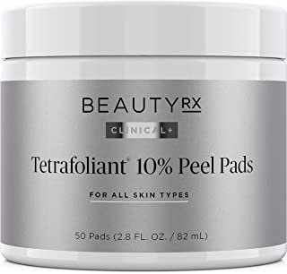 BeautyRx by Dr. Schultz Advanced 10% Glycolic Acid Peel Pads for Fine Lines, Wrinkles, Uneven Skin Tone & Texture. Medical Grade Facial Chemical & Physical Exfoliating 50 Pads with AHA & BHA