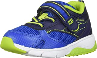 Stride Rite Made2Play Indy Boy's/Girl's Machine Washable Sneaker, NAVY, 4 M US Toddler