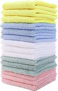 15 عدد دستمال حمام کودک فوق العاده نرم ، ملایم برای پوستهای حساس صورت و بدن ، لباسهای مخملی مخمل مخمل ، فوق العاده جاذب دخترانه و پسرانه ، 10 در 10 اینچ توسط Lovely Care