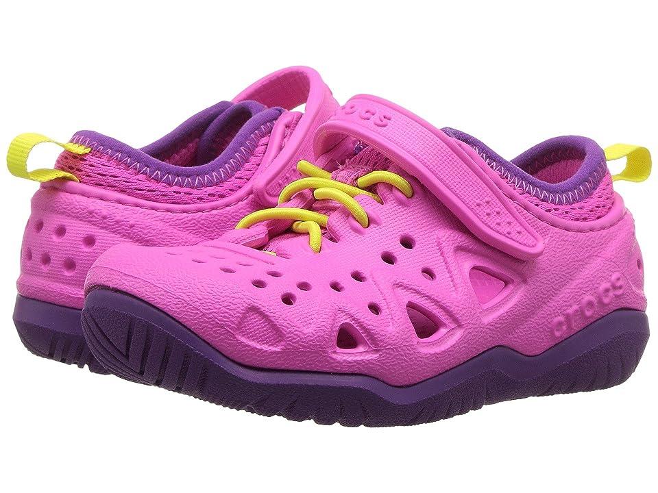 Crocs Kids Swiftwater Play Shoe (Toddler/Little Kid) (Neon Magenta) Kid