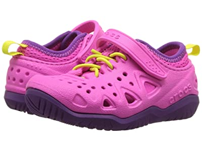 Crocs Kids Swiftwater Play Shoe (Toddler/Little Kid) (Neon Magenta) Kid