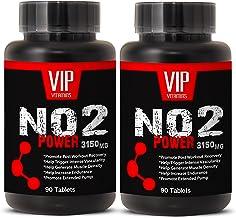 Premium Nitric Oxide Energy ans Muscle Enhancement - NO2 3150mg - L-Arginine Preworkout Supplement - (2 Bottles 180 Capsules)