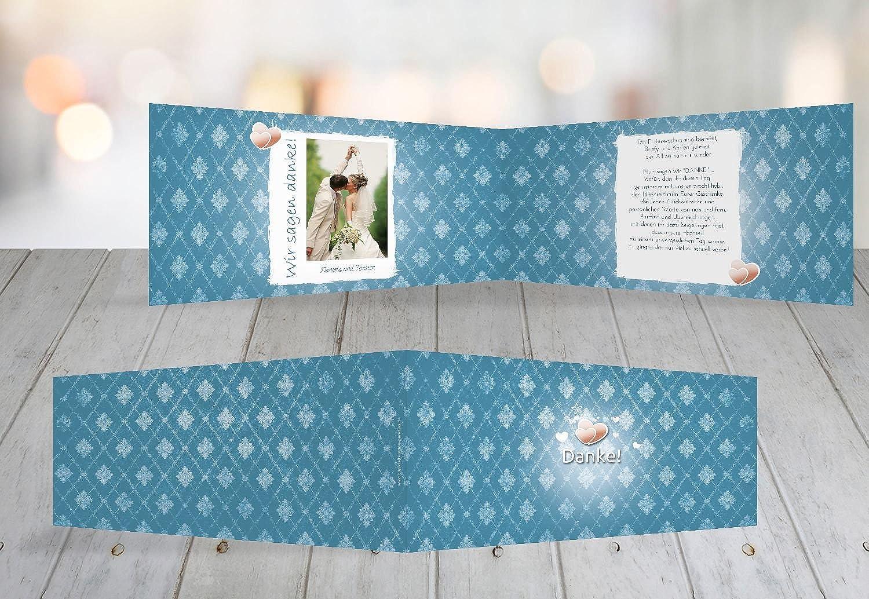 Kartenparadies Danksagung für Hochzeitsgeschenke Hochzeit Danke Din Liebesbündnis, hochwertige Danksagungskarte Danksagungskarte Danksagungskarte Hochzeitsglückwünsche inklusive Umschläge   10 Karten - (Format  215x105 mm) Farbe  MattBlau B01NBWXHSS   Erste in sei 1a1730