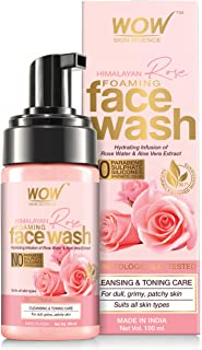 WOW Skin Science Himalayan Rose Foaming Face Wash - contains Rose Water & Aloe Vera Extract - for Cleansing & Toning - No ...