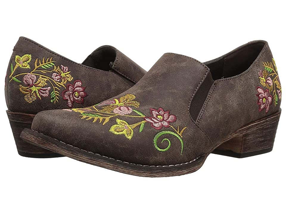 Roper Birkita (Vintage Brown Faux Leather w/ Embroidery) Women