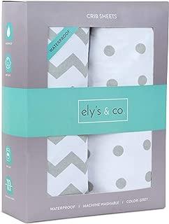 Waterproof Crib Sheet Toddler Sheet by Ely's & Co. no Need for Crib Mattress Pad Cover or Crib Mattress Protector
