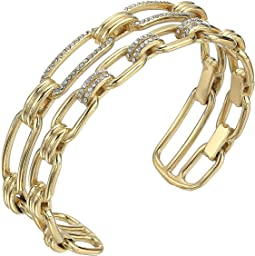 Iconic Link Pave Open Double Cuff Bracelet