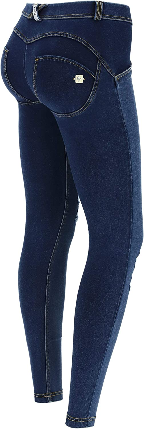 FREDDY 368 Carryover Wrup Pantalon Long pour Femme Denim