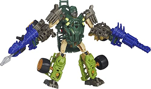 Transformers Age of Extinction Construct-Bots Dinobot Warriors Autobot Hound and Wide Load Dino Buildable Action Figures by Transformers