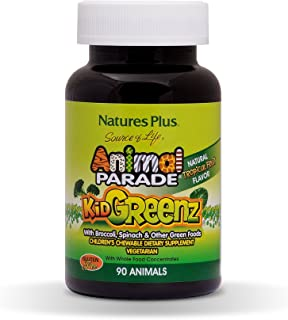 Nature's Plus - Animal Parade Kid Greenz. 250 mg. 90 chewable tablets