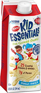 Boost Kid Essentials Nutritionally Complete Drink, Vanilla, 8.25 fl oz box, 16 Pack (Packaging May Vary)
