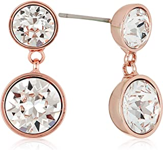 MESTIGE Women Crystal Rose Gold Nyree Earrings with Swarovski Crystals