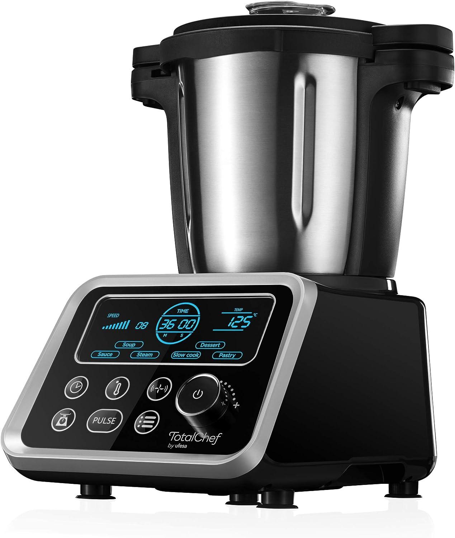 Ufesa Totalchef RK5 Robot de Cocina con Cocción, Varios Programas para Cocinar, 1700 W de Potencia, Pantalla LCD, Jarra con Capacidad de 3,5 L, Recetario y Manual en Italiano, Sin BPA