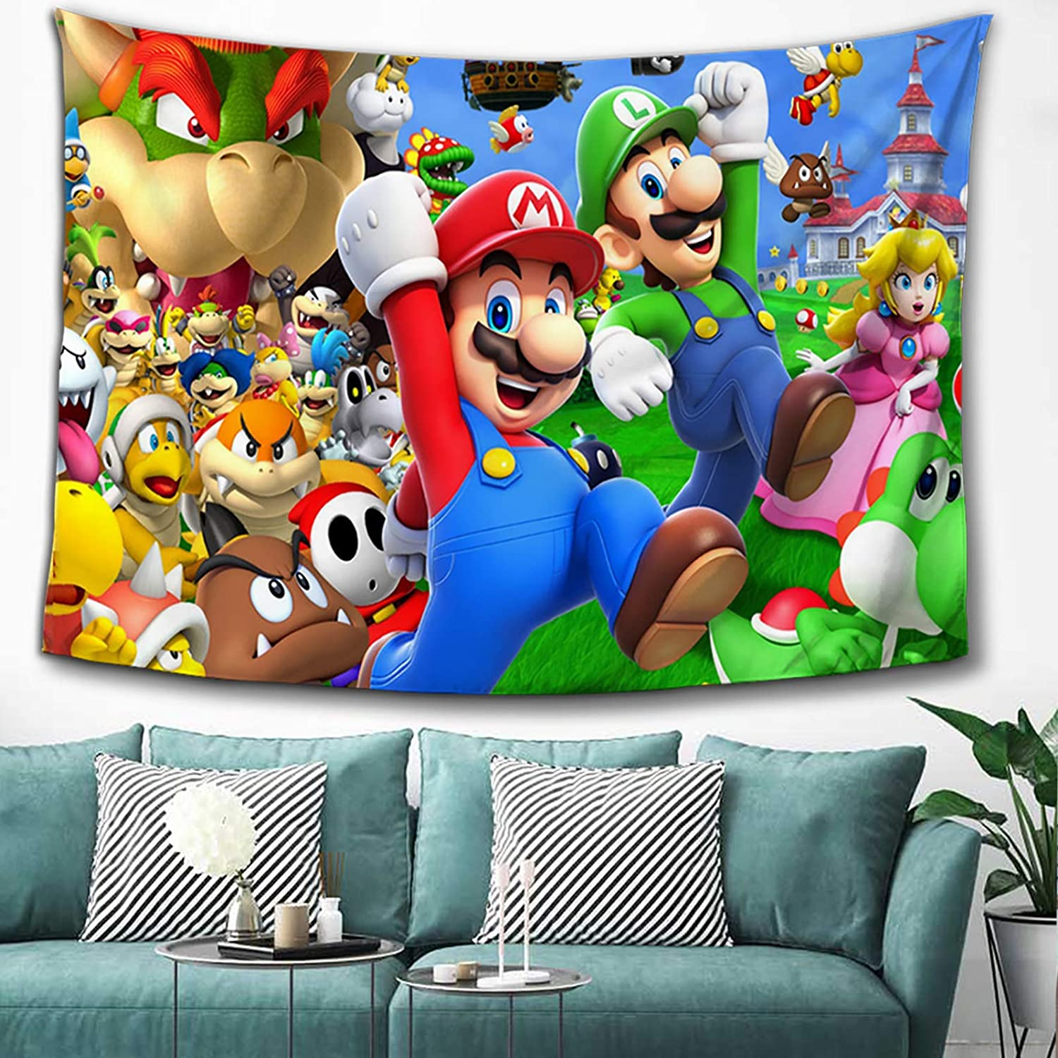 MOSIDECOR Anime Tapestry Wall Hanging for Bedroom Party Wall Decor Anime Wall Art for Birthday Gifts 60