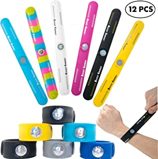12 PCs Silicone Slap Bracelets for Kids - Sport Snap On Wristbands with Boost Energy Hologram for Strength and Balance - Great Birthday Party Favors and Easter Basket Fillers for Boys and Girls