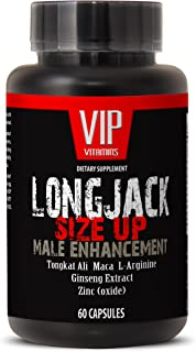 Longjack Tongkat Ali - Size Up 2170mg - Male Enhancement - Natural Testosterone Booster - Premium Quality (1 Bottle 60 Cap...