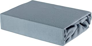 Soft Dream Drap-Housse pour Enfant 100% Coton Jersey - 60/120 60 x 120 cm, Gris, 60 x 120 cm
