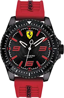 Ferrari Men's Black Dial Silicone Band Watch - 830498