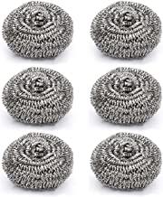 DISSMI Steel Cleaning Scruber Pads (Set of 6, Silver)