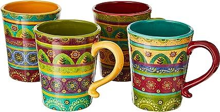 Certified International 22452SET/4 Tunisian Sunset Mugs (Set of 4), 18 oz, Multicolor