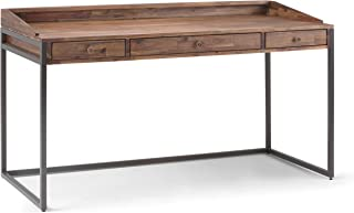 SIMPLIHOME Ralston SOLID WOOD and Metal Modern Industrial 60 inch Wide Home Office Desk, Writing Table, Workstation, Study...