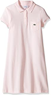 Girls' Classic Pique Dress with Pocket