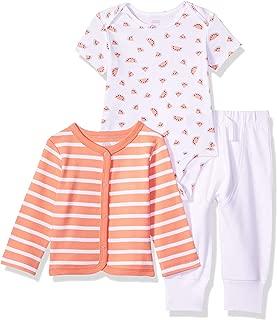 Amazon Essentials Girls' Baby 3-Piece Cardigan Set