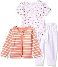 Amazon Essentials - Conjunto de 3 piezas con  cárdigan para niña