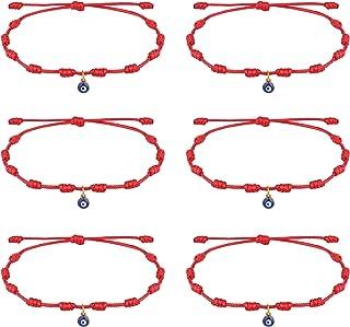 sailimue Handmade Evil Eyes Bracelet Amulet Adjustable Couples Friendship Bracelets String Red Black for Family Bestfriend...