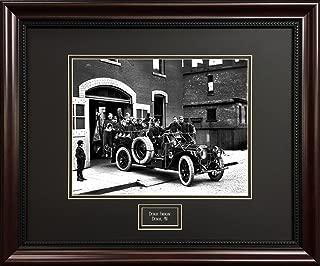 Deluxe Black and White Detroit Print - Detroit Firehouse - Framed Vintage Photograph