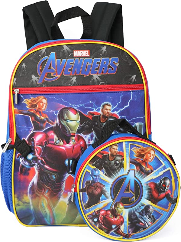 Marvel Avengers Backpack With Insulated Lunchbox Red Multi One Size