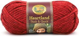 Lion Brand Yarn 137-113 Heartland Thick and Quick Yarn, Redwood