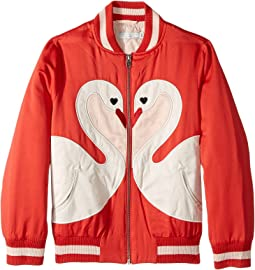 Stella McCartney Kids - Willow Swan Bomber Jacket (Toddler/Little Kids/Big Kids)