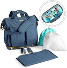 Diaper Bag Backpack for Two Babies, Toddlers, Children - 15 Compartments Organizer Bags for Moms and Dads with Insulated Pockets, Large Capacity - Durable and Stylish Maternity Travel Gear