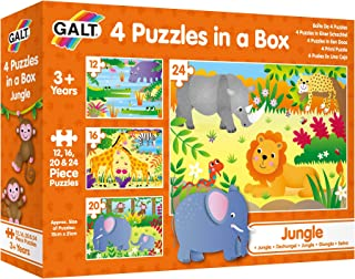 Galt 1005071 4 Puzzles in a Box - JunglePuzzle