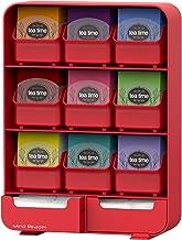 Mind Reader 'Baggy' 9 Drawer Tea Bag and Accessory Holder, Red