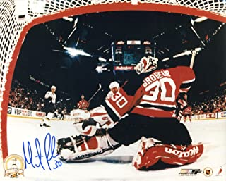 Martin Brodeur Signed/Autographed New Jersey Devils 8x10 Glossy Photo. Includes Starleague Certificate of Authenticity and Proof Of Signing. NHL Hockey Autograph Original