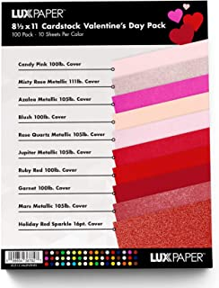 """$27 » LUXPaper 8.5"""" x 11"""" Valentines Day Color Cardstock for Crafts and Cards in 100lb. Cover, Scrapbook Supplies,1 Pack, 100 Sh..."""