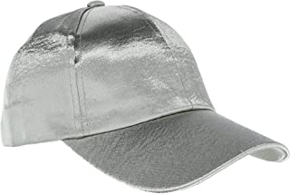 CTM Women's Textured Satin Baseball Cap