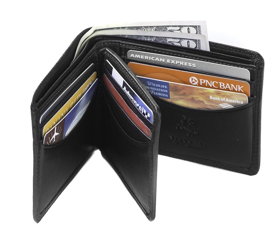 遊び場知る人に関する限りVisconti Heritage 17二つ折りメンズソフトレザーIDカードケース財布